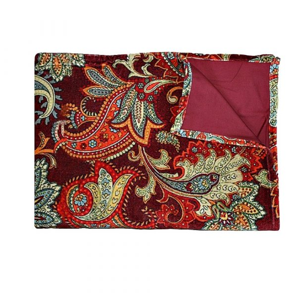 Burgundy Paisley Throw