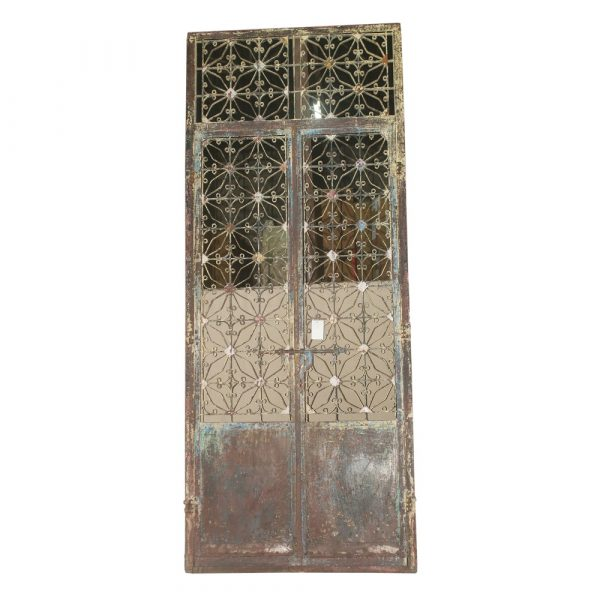 Vintage Iron Door with Frame