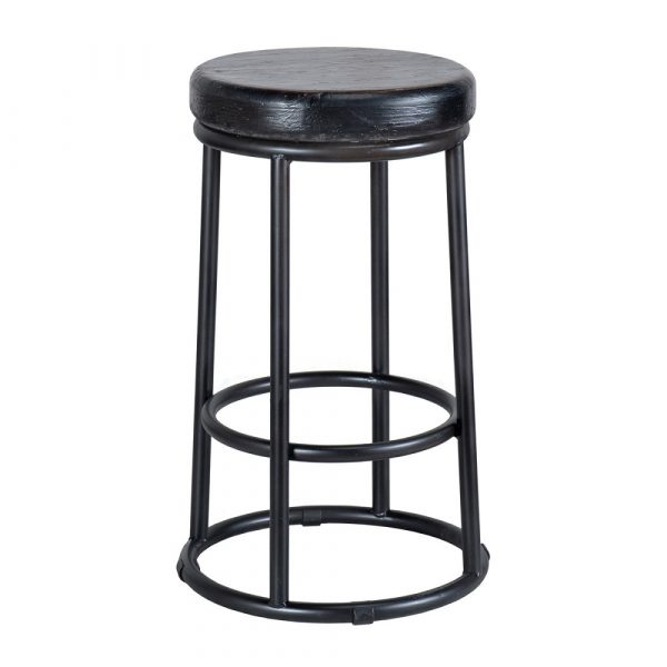 Reclaimed Stool Black- SB