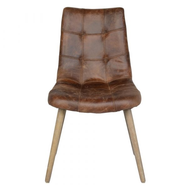 Leather Tub Dining Chair