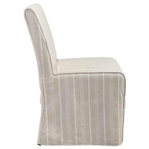 Ameila Upholstered Striped Dining Chair