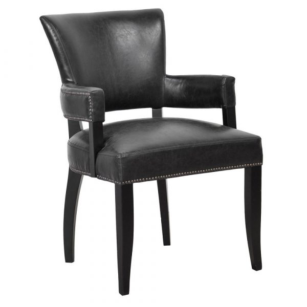 Rona Upholstered Dining Arm Chair in Mink