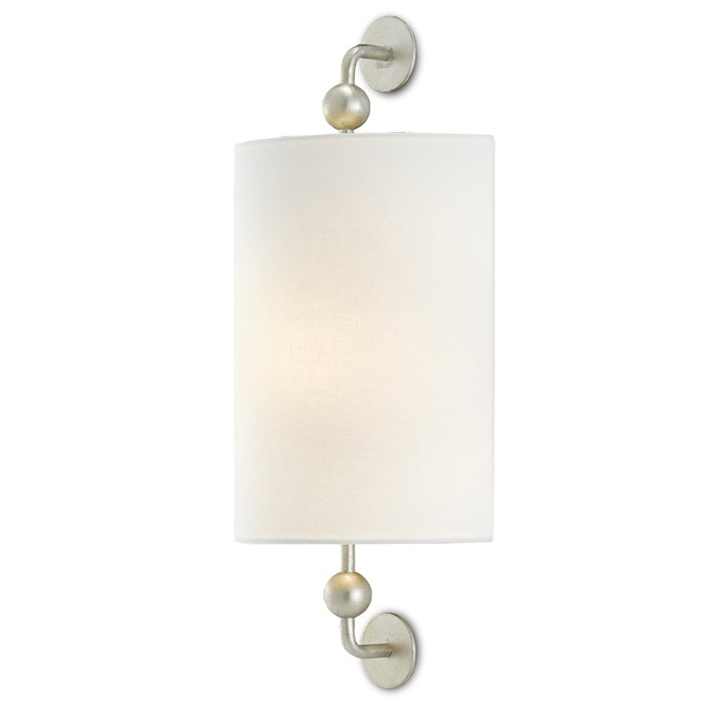 Tavey Silver Wall Sconce