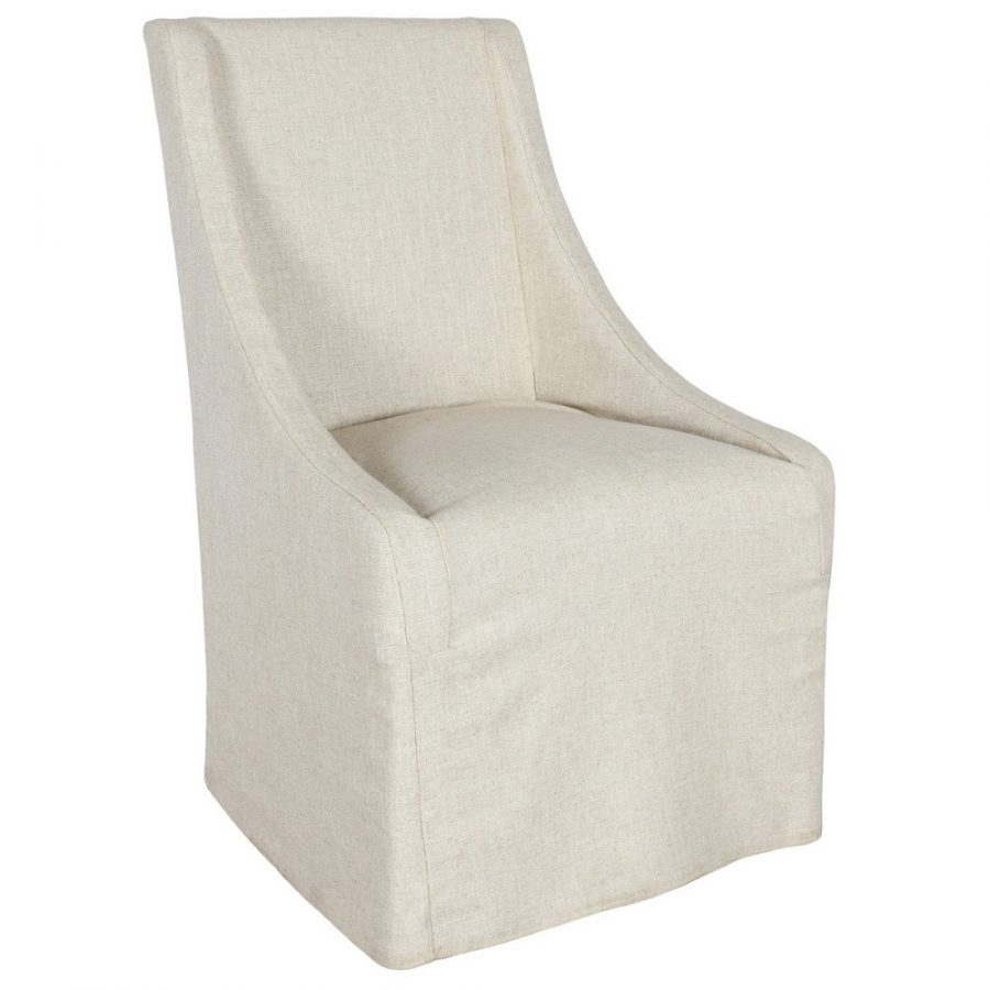Worthington Upholstered Dining Chair in Oatmeal