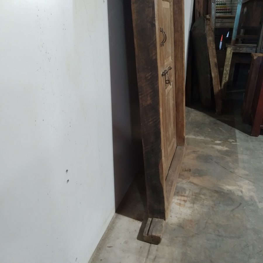 Spring – Vintage Wood Door with Frame