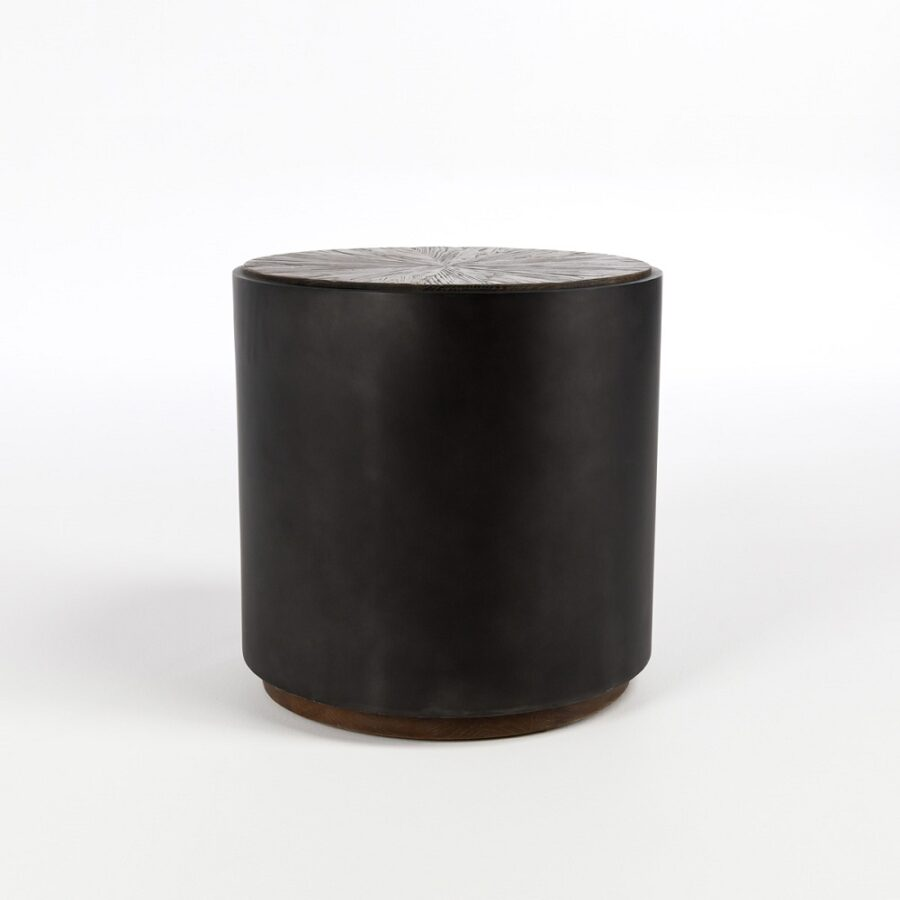 Modern End Table in Black