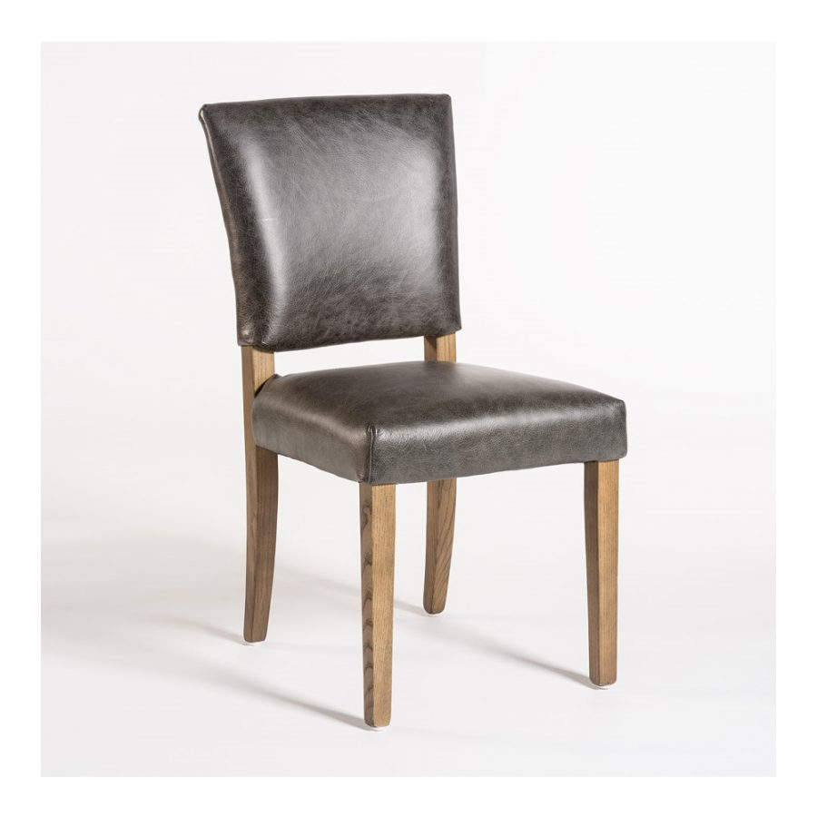 Charcoal Black Leather Chair