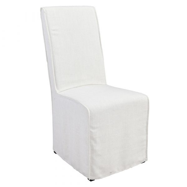 Jasper White Slipcover Chair