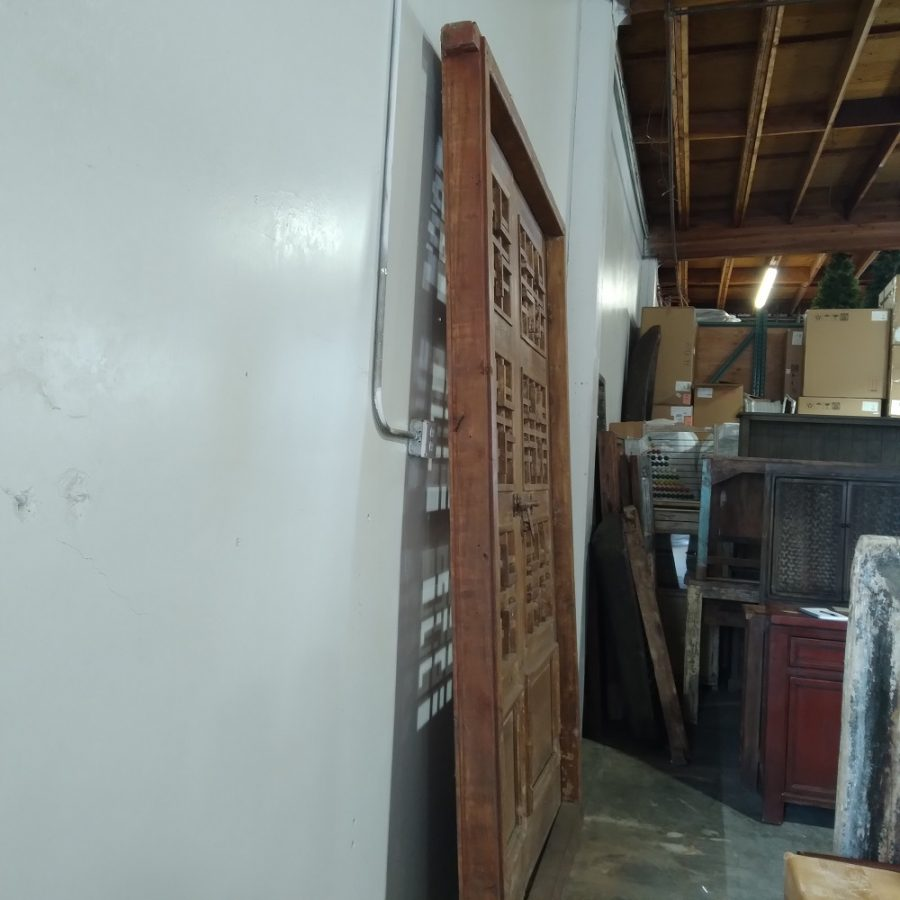 Vintage Wood Door With Frame OFK