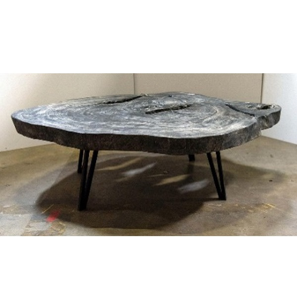Live Edge Coffee Table in Black