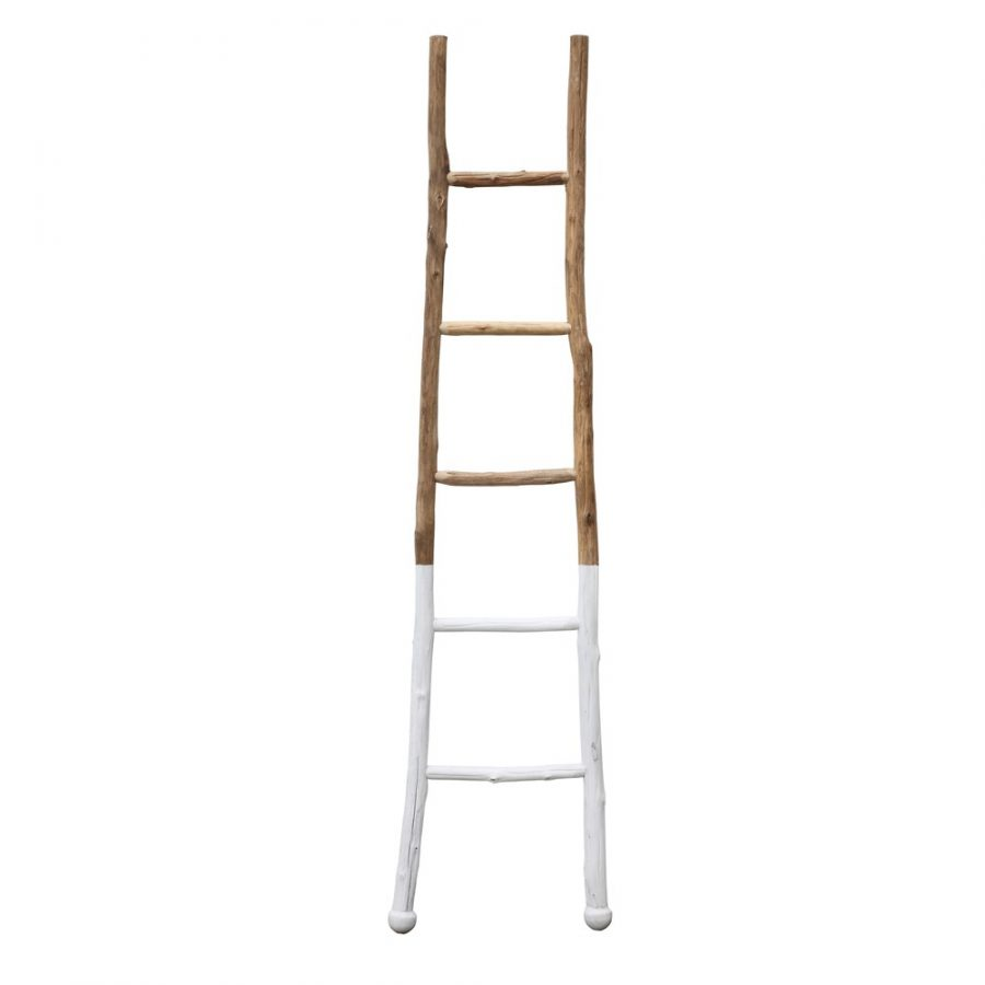 Wood Ladder White Dipped