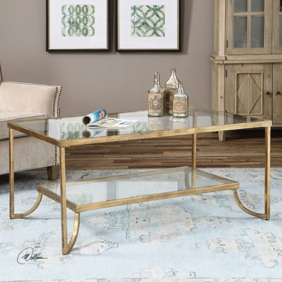 Forged Iron Gold Coffee Table