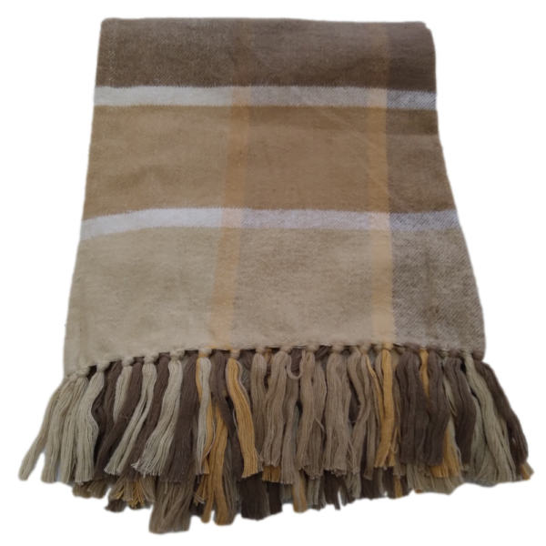 Brushed Cotton Plaid Throw