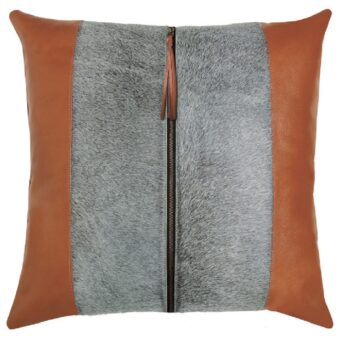tanner leather pillow