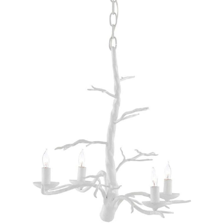 White Small Treetop Chandelier