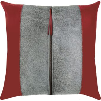 Tanner Red Leather Pillow