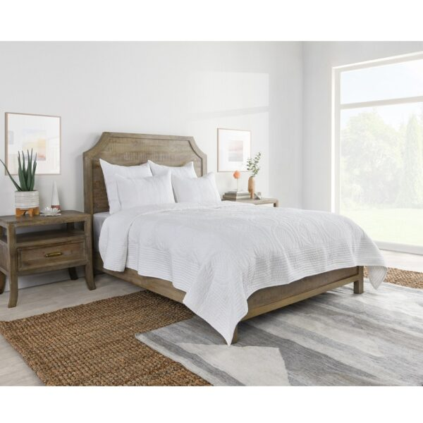 Amia White Quilted Bedding