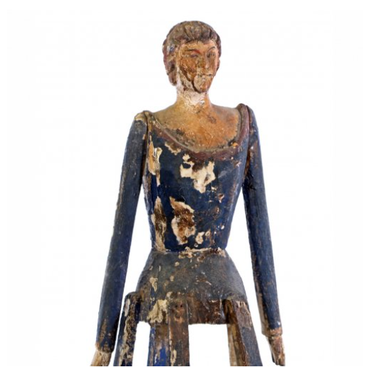 Wooden Figure on Stand Detail
