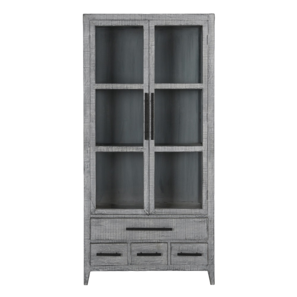 Symm Tall Antique Blue Cabinet
